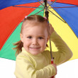 Cute child with umbrella — Stock Photo