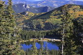 Morning on the mountain lake, Colorado — Stock Photo