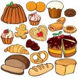 Baking and sweets icon set — Stock Vector