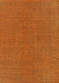 Orange dyed jute canvas texture — Stock Photo