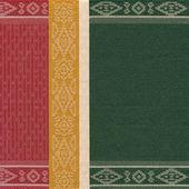 Decorative striped fabric — Stock Photo