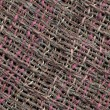 Diagonal swatch of hand woven fabric — Stock Photo #3294420