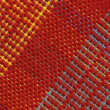 Woolen webbing, diagonal swatch — Stock Photo