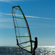Foto Stock: Windsurfing