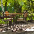 The cafe table with four chairs — Stock Photo #3069801