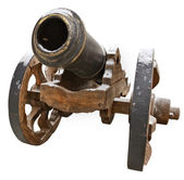 The old fashioned cannon isolated — Stock Photo