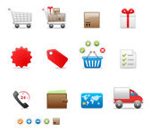 Boutique jeu d'icônes — Vecteur