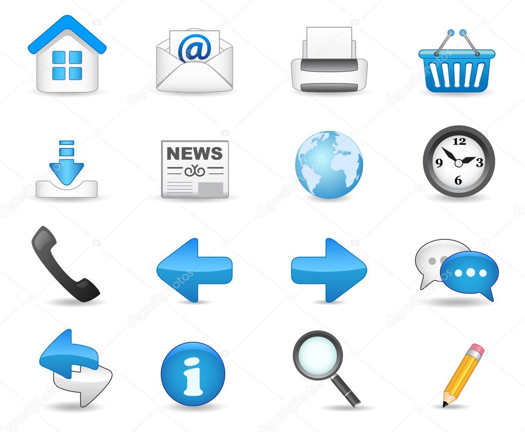 Universal icon set for your website. — Imagens vectoriais em stock #3070405