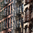 Tenement in Manhattan - Stock Photo