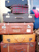 Tel Aviv-Suitcases — Stock Photo