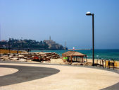 Tel Aviv-Promenade to Jaffa — Stock Photo