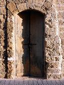 Tel aviv staré dveře — Stock fotografie