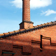 Brewery chimney — 图库照片
