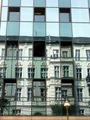 Velho e novo-reflexões-2 — Fotografia Stock