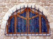 Tel Aviv-blue window — Stock Photo