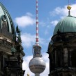 Berlin-TV tower between domes — Stock Photo