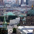 Berlin-churches-eye view - Stock Photo