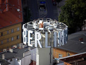Berlin in capitals — Stock Photo