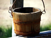 Wooden bucket — Stock Photo