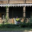Alexandrowka-log cabin-loggia - Stock Photo
