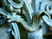 Door handle-seahorse — Stock Photo
