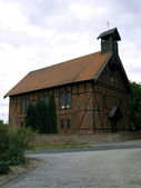 Half-timbered church Dippmannsdorf — Stock Photo