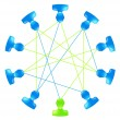 Vector de stock : Network