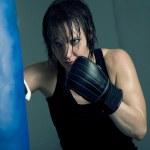 女拳击手 — 图库照片