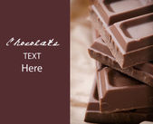 Delicious chocolate with sample text — Stock Photo