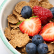Bowl of breakfast cereal with fruit. — Stock Photo #3146636
