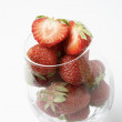Fresh strawberries in a glass. — Stock Photo