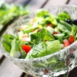 Fresh garden salad on a table. — Stock Photo