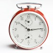 Old red analog alarm clock. — Stock Photo #3146794