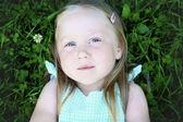 Portrait of thoughtful little girl. — Stock Photo