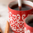 Stock Photo: Hot Christmas drink with spices