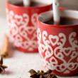 Hot Christmas drink — Stockfoto