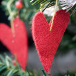 Heart shape Christmas decorations — Stock Photo