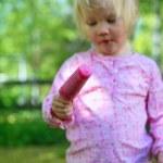 Little girl with ice-cream — Stock Photo #3155140