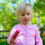 Little girl with ice-cream — Stock Photo #3155146
