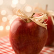 Red Christmas apples — Stock Photo