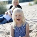 Young girl having fun at beach. — Stock Photo #3155307