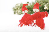 Two Christmas elves. — Stock Photo