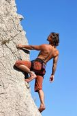 Climb the wall! — Stockfoto