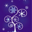 Royalty-Free Stock Vector Image: Tree with snowflakes