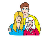 Friendly family — Stock Vector