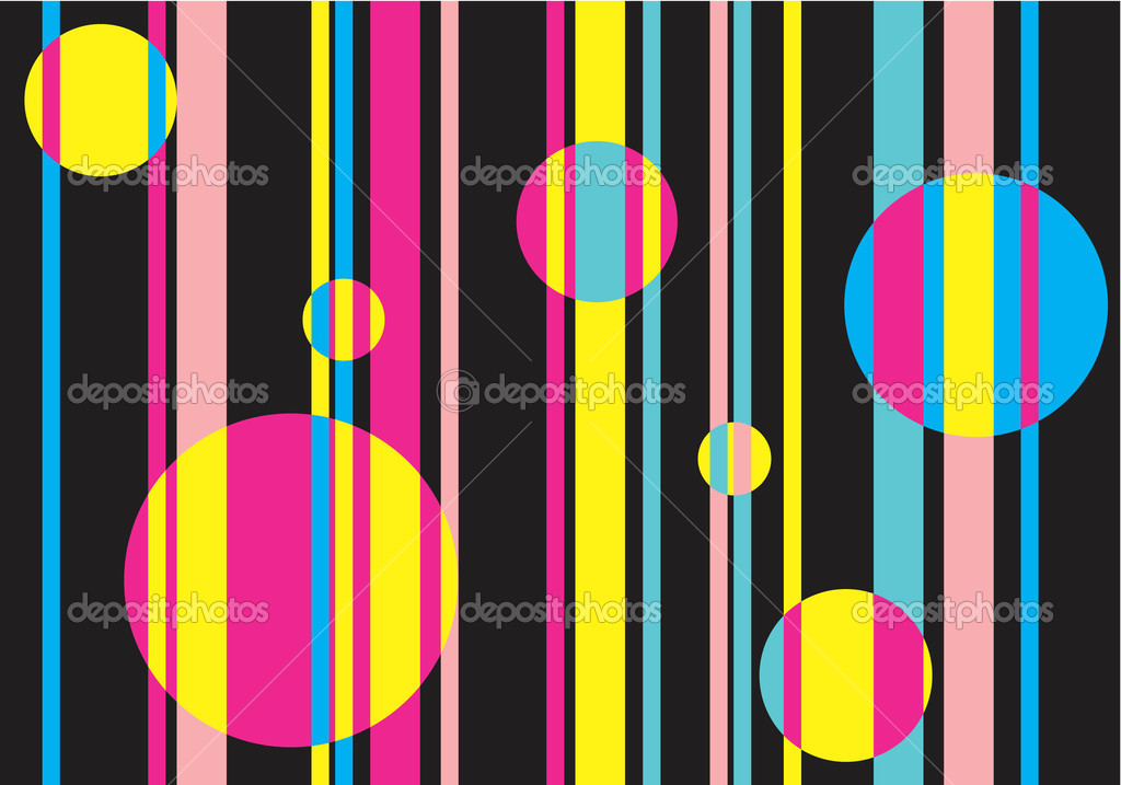 Background - colored stripes and circles — Stock Vector #3248965