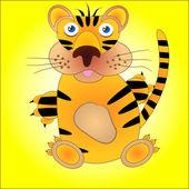 Komische tiger — Stockvektor