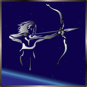 Sagittarius sign zodiac — Stock Vector