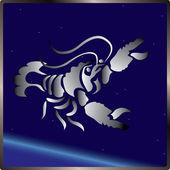 Cancer sign zodiac — Stock Vector