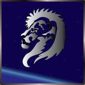 Lion sign zodiac — Stock Vector